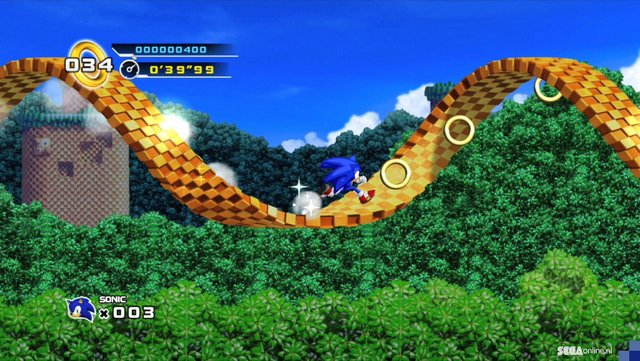 Loop-de-loops in Sonic the Hedgehog 4.