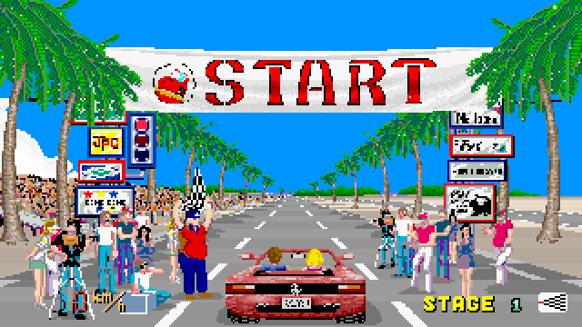 Sega's original Outrun game.