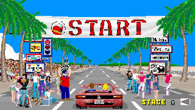 Sega's original Outrun game.