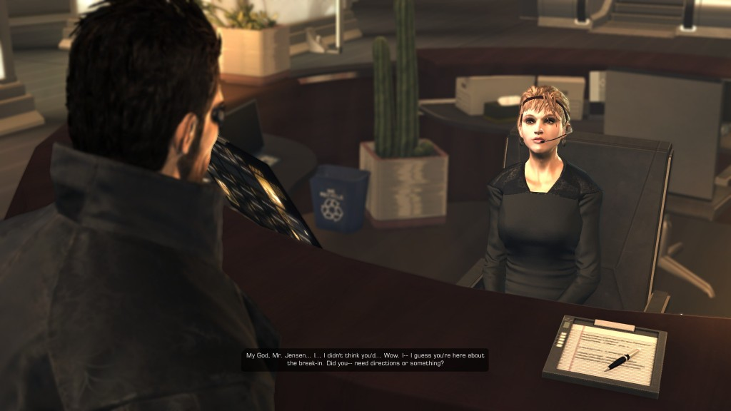 Deus Ex: Human Revolution - Meet the receptionist