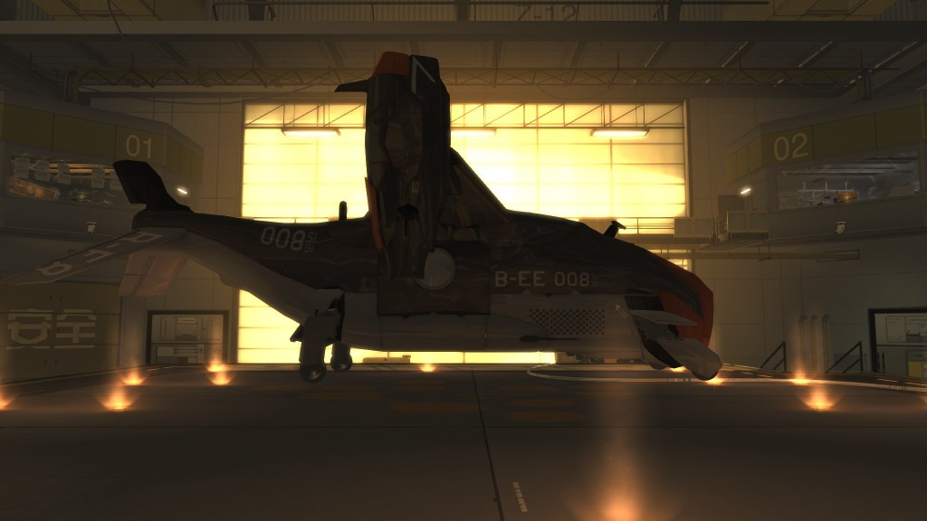 Deus Ex: Human Revolution -The B-EE 008 helicpoter
