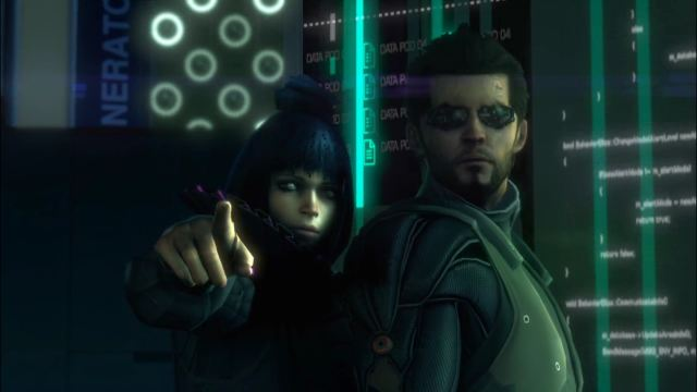 Deus Ex: Human Revolution - Eliza Cassan and Adam Jensen