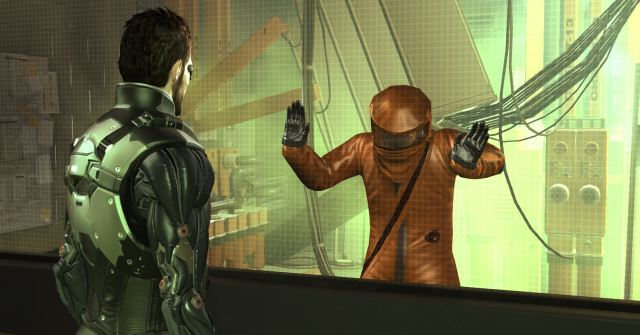 Deus Ex: Human Revolution - A maintenace worker is gassed