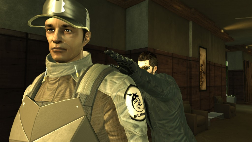 Deus Ex: Human Revolution - Taking down a penthouse guard in Hengsha