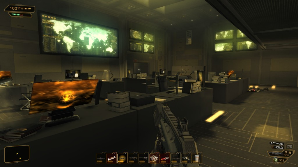 Deus Ex: Human Revolution - The basement offices of Picus Media