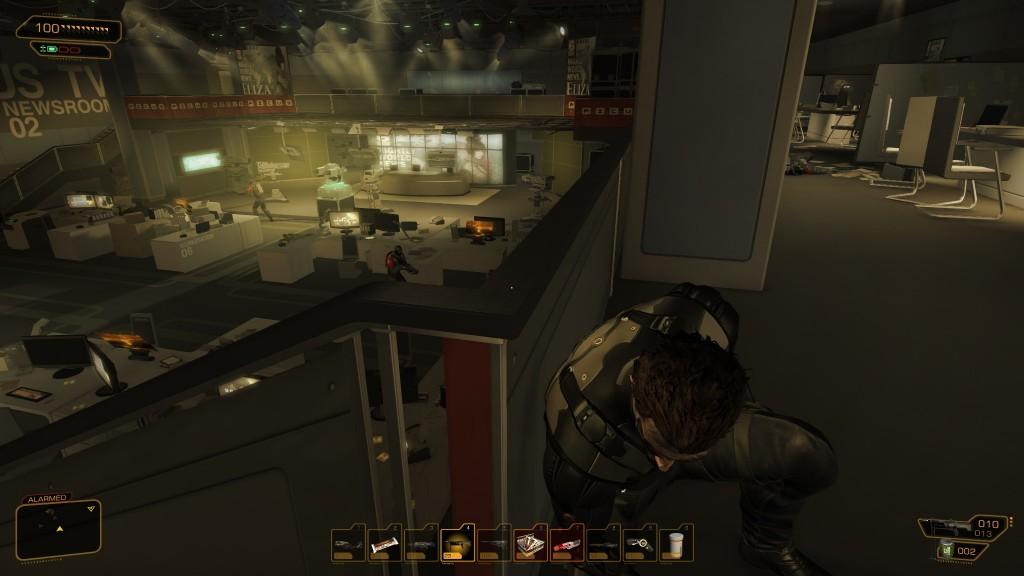 Deus Ex: Human Revolution - The studio and newsdesk at Picus