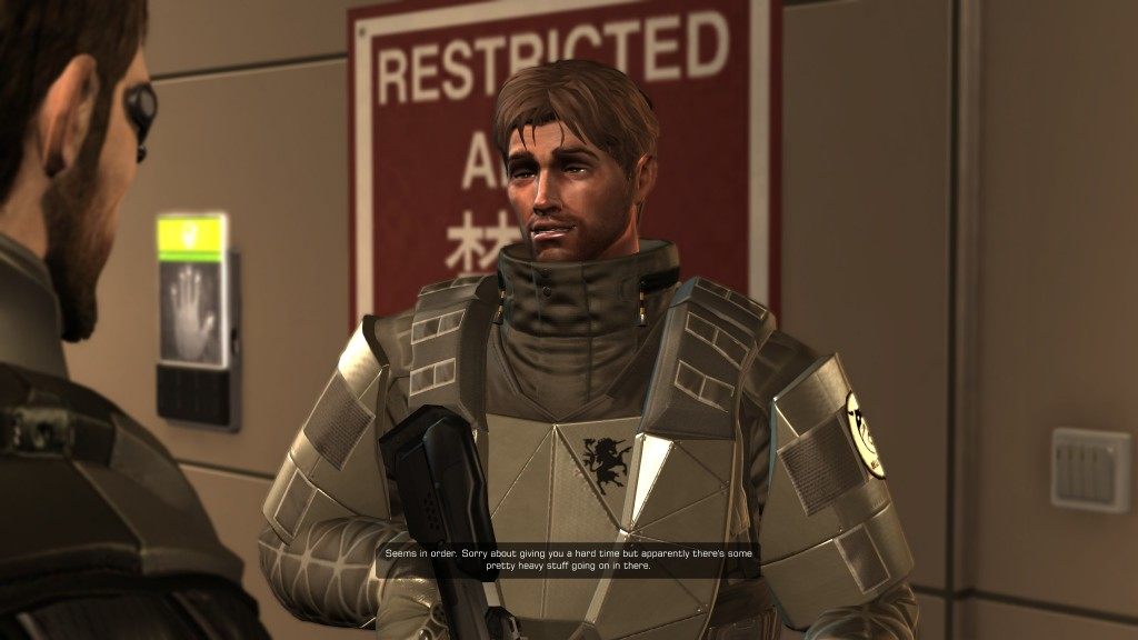 Deus Ex: Human Revolution - A Tai Yong Medical guard apologizes