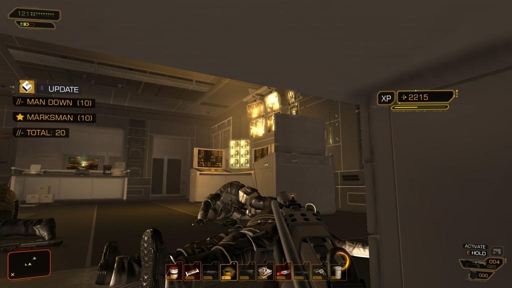 Deus Ex: Human Revolution - Hiding under a desk in Tai Yong Medical