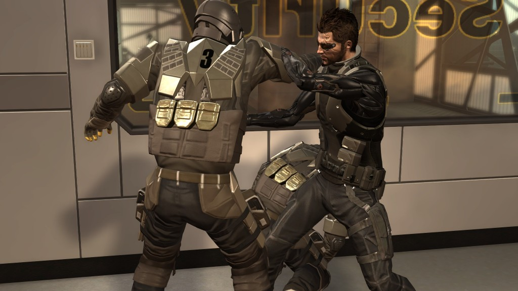 Deus Ex: Human Revolution - Jensen deals with Tai Yong Medical security