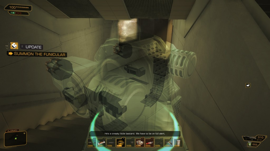 Deus Ex: Human Revolution - Taking a turret with me for good luck